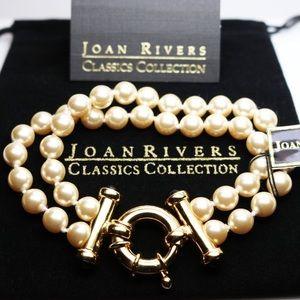 Joan Rivers Pearl Bracelet